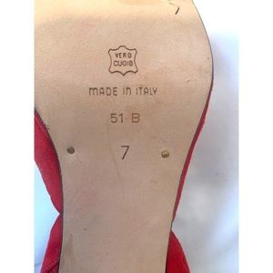 Via Spiga Shoes - Via Spiga size 7 red suede heels Made in Italy